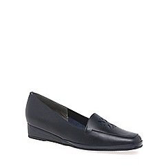 Van Dal - Navy 'Verona IV' Womens Wedge Heel Loafers