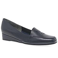 Van Dal - Navy 'Verona IV' Womens Wedge Heel Loafers