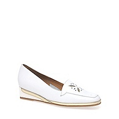 Van Dal - White 'Verona IV' Womens Wedge Heel Loafers
