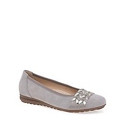 Gabor - Beige 'Rhiannon' Womens Wide Fit Shoes