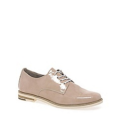 Marco Tozzi - Beige 'Bena' Womens Casual Lace-Up Shoes