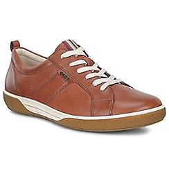 Ecco - Dark tan 'Chase II Lace' womens casual shoe