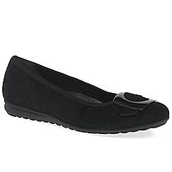 Gabor - Black 'Cash' womens casual modern ballerina shoes