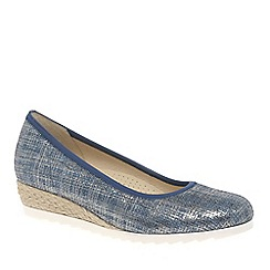 Gabor - Blue 'Epworth' womens modern ballerina shoes