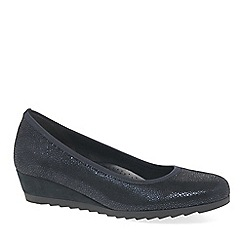 Gabor - Dark blue 'Epworth' womens modern ballerina shoes