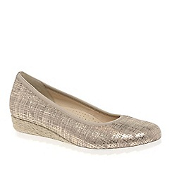 Gabor - Metallic 'epworth' womens modern ballerina shoes