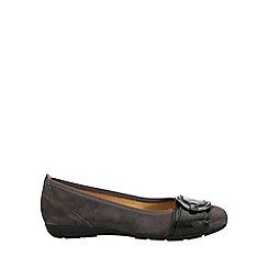 Gabor - Dark grey 'Cullin' Womens Ballerina Pump Shoes