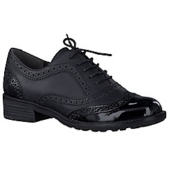 Marco Tozzi - Black 'Duchess II' womens brogues