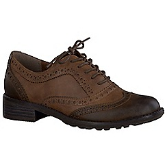 Marco Tozzi - Brown 'Duchess II' womens brogues