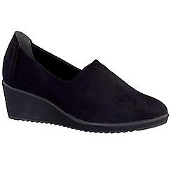 Marco Tozzi - Black 'Martini' womens wedge heel casual shoes