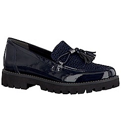 Marco Tozzi - Navy 'Gimlet' womens tassel slip on shoes