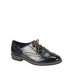 Rieker - Black Patent 'Popper' womens brogues