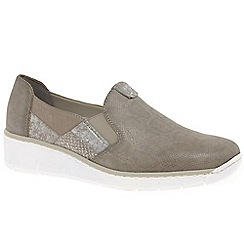 Rieker - Brown 'Salv' flat slip on shoes