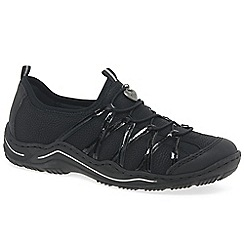 Rieker - Black 'lesson' womens casual sports shoes