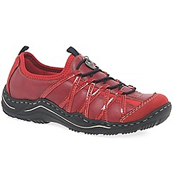 Rieker - Red 'lesson' womens casual sports shoes