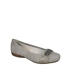 Rieker - Grey 'Chain' womens casual slip on shoes