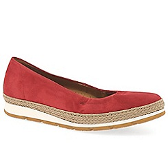 Gabor - Red 'bridget' womens casual pumps