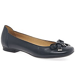 Gabor - Navy 'natalia' womens leather ballet pumps