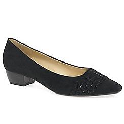 Gabor - Black 'Stargate' womens court shoes