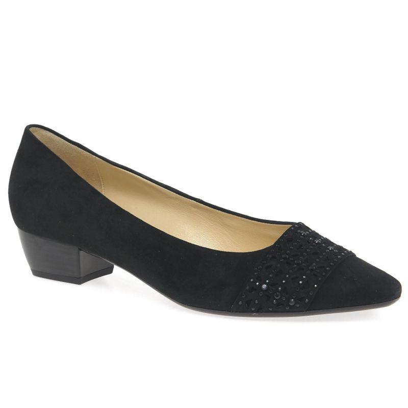 Womens Gabor Black stargate Womens Court Shoes, Womens,
