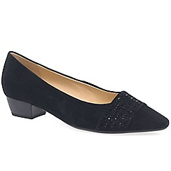 Gabor - Navy suede 'Stargate' womens court shoes
