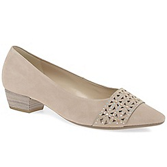 Gabor - Beige 'Stargate' womens court shoes