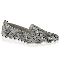 Rieker - Grey 'Kerstin' slip on shoes