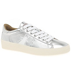 Fly London - Silver leather 'Berg' casual trainers
