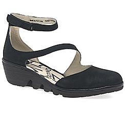 Fly London - Black 'Plan' wedge heel shoes