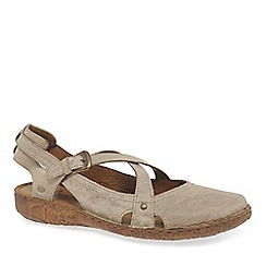 Josef Seibel - Beige leather 'Rosalie 13' flat closed toe sandals