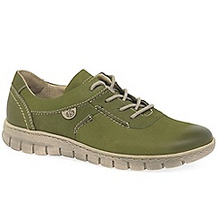 Josef Seibel - Olive leather 'Steffi 07' flat lace up shoes
