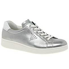 Ecco - Silver leather 'Soft 4' casual trainers