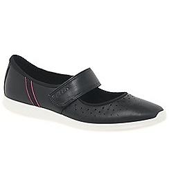 Ecco - Black 'Sense' womens casual riptape shoes