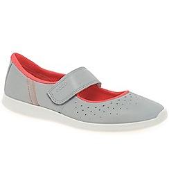 Ecco - Light grey 'Sense' womens casual riptape shoes