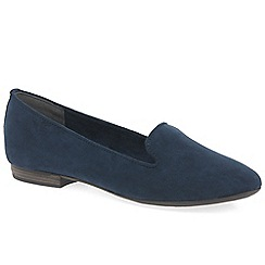 Marco Tozzi - Navy 'Meitner' womens casual slip on shoes