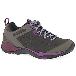 Merrell - Brown leather 'Siren' walking shoes