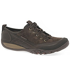 Merrell - Dark brown leather 'Mimosa Quinn Lace' flat shoes