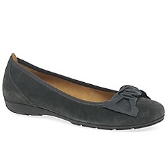 Gabor - Grey suede 'Brenda' women's casual ballet pumps