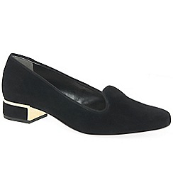 Van Dal - Black suede 'Belsize' court shoes