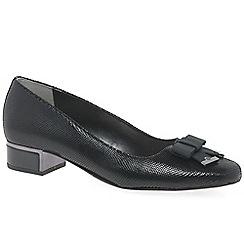 Van Dal - Black leather 'Robin Womens' mid heel court shoes
