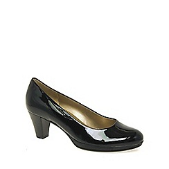 Gabor - Black patent 'rani' womens court shoes