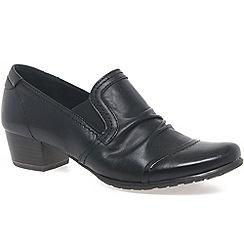 Marco Tozzi - Black 'Reed III' Womens High Cut Court Shoes