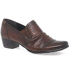 Marco Tozzi - Brown 'Reed III' Womens High Cut Court Shoes