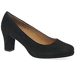 Gabor - Black 'ella' womens suede court shoes