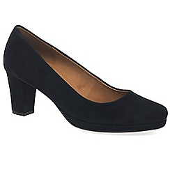 Gabor - Navy 'ella' womens suede court shoes