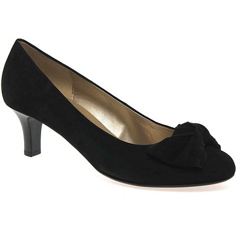 Gabor - Black gabor fern bow trim court shoes