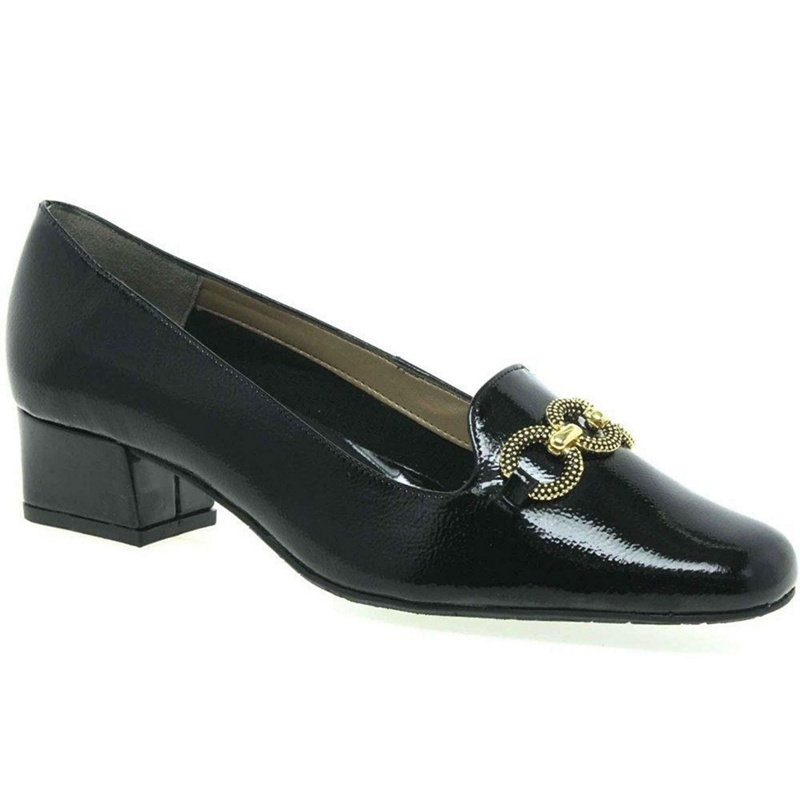 Mens Black Patent Leather Shoes Wide Fit