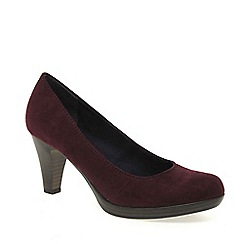 Marco Tozzi - Maroon 'bethel' womens court shoes
