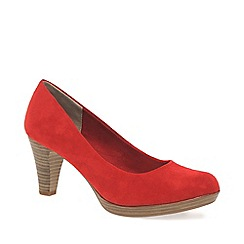 Marco Tozzi - Red 'Bethel' Womens Dress Court Shoes