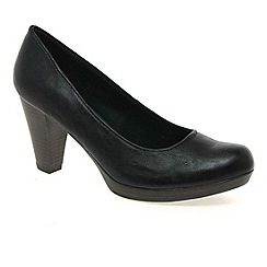 Marco Tozzi - Black 'claudia' womens court shoes